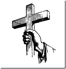cross in hand